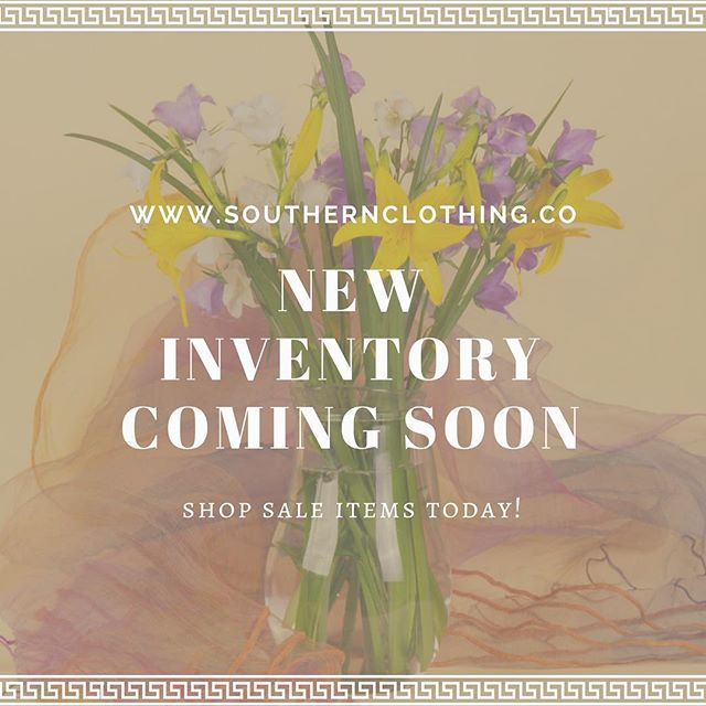 🌟New Inventory Coming Soon🌟 Shop our sale items today!  Click the link in our bio! 🛍Shop here -  www.southernclothing.co . . . . . #boutique #boutiqueshopping #southern #southernbelle #jewelry #shopping #southerncharm #fashion #womensfashion #summerfashion #texas #gameday #collegefootball #southcarolina #florida #lovepromos #georgia #tennessee #rolltide #auburn #kentucky #olemiss #weekend #msu #hailstate #secfootball  #hottytoddy #beautiful #instastyle #styleinspo