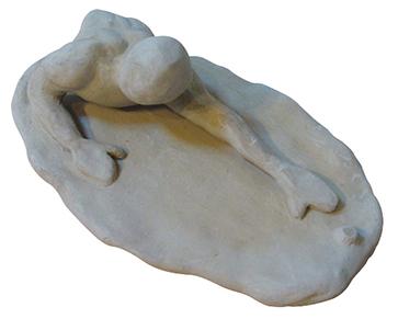 "Clay sculpture: ""The Struggle"""