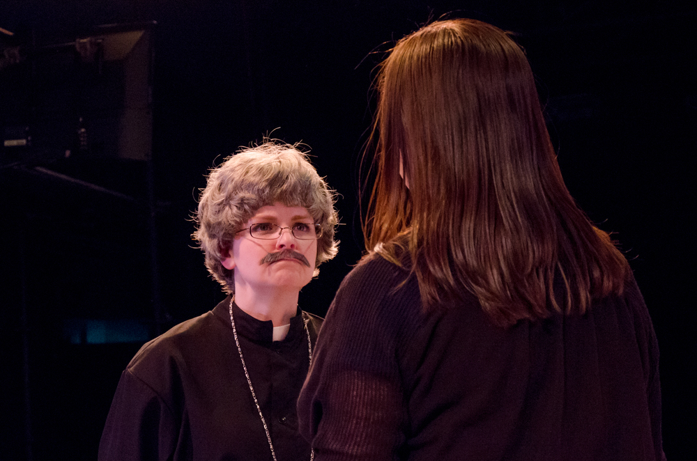 Father Jorgensen (Katie Miller), Jessica (Tara Herweg-Mann)