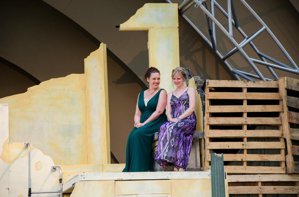 Andromache (Tara Herweg-Mann), Helen (Kathryn Miller)