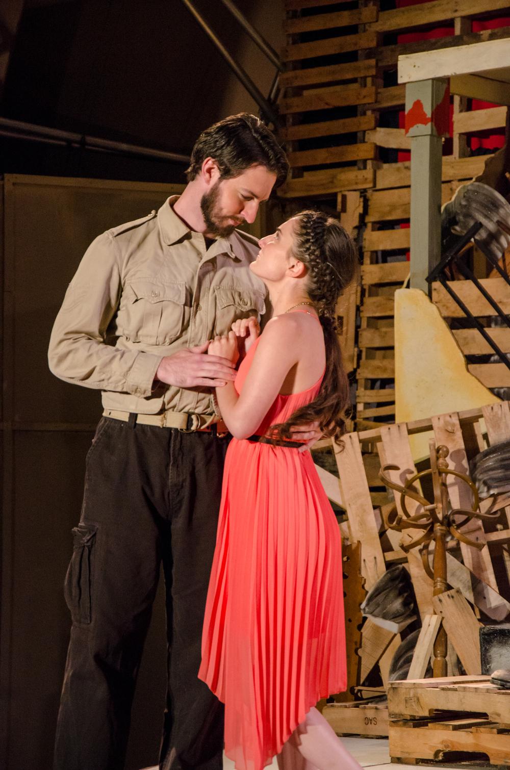 Diomedes (Ross Carmichael), Cressida (Emily Samuelson)