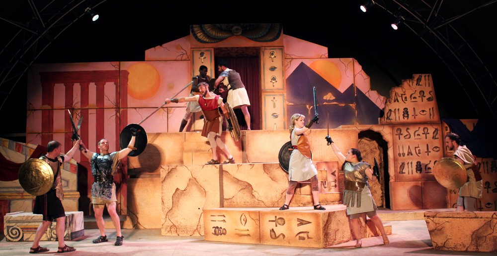 Agrippa (David Richwine), Scarus (Jeremy Burkett), Proculeius (Ian Potter), Mecaenas (Bernard Joseph), Eros (Joseph Grabiec), Gallus (Kathryn Miller), Diomedes (Grace Hoover) Taurus (Collins Wilson)