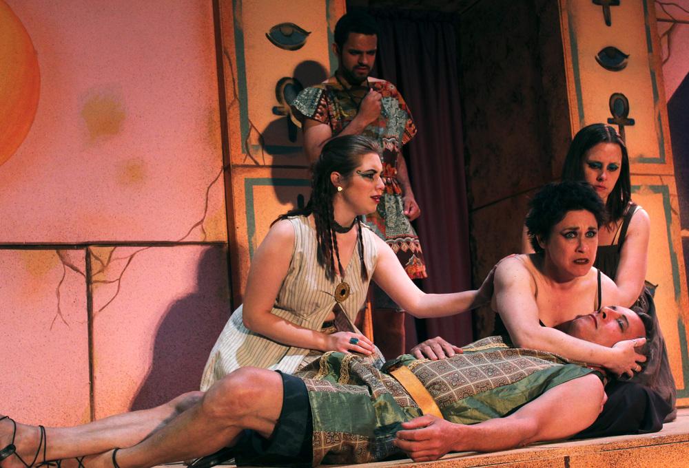 Iras (Miranda Zerbe), Mardian (Matthew Mercado), Cleopatra (Francesa Amendolia), Chairmian (Tara Herweg-Mann), Antony (Philip Wheeler)