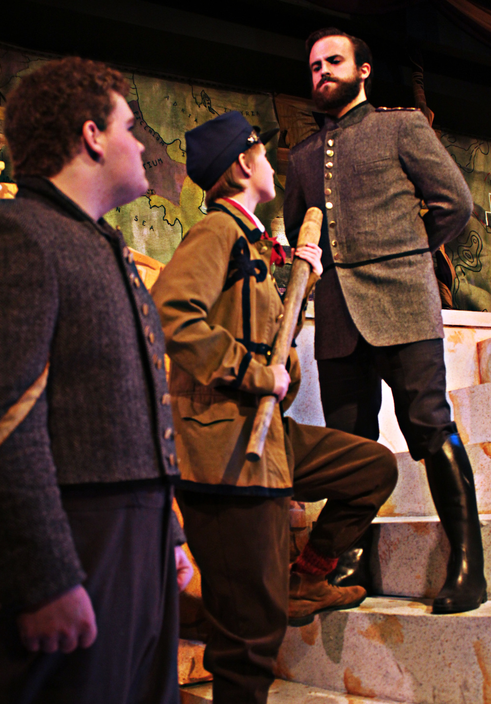 Soldier (Brennan Watt), Citizen (Rose Weber), Cominius (Mark Sherlock)