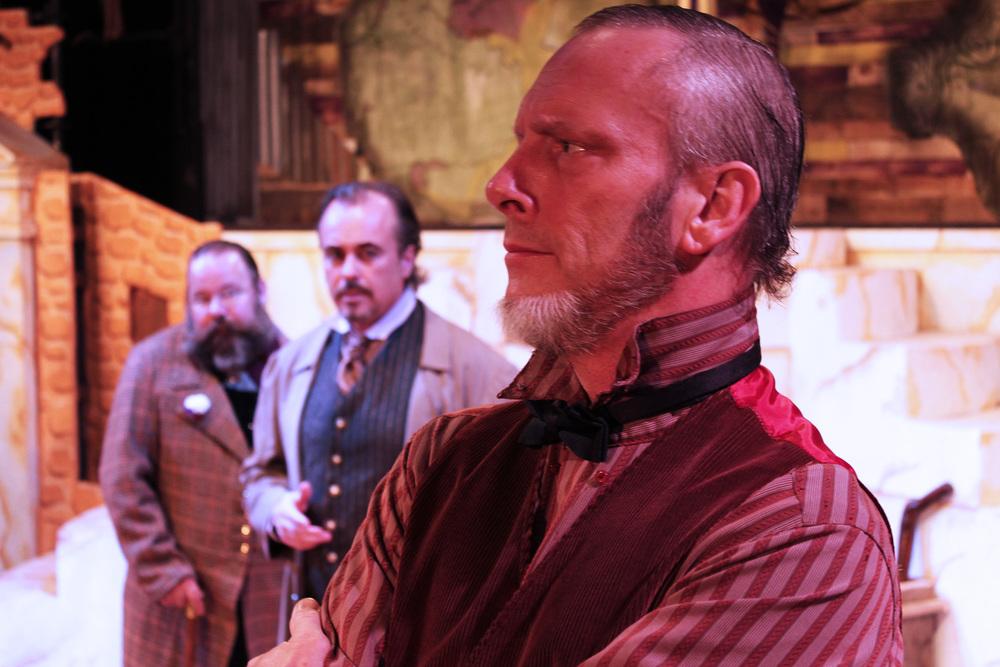 Sicinius (Dan Burke),Brutus (Jeffrey Rensch),Menenius (Philip Wheeler)