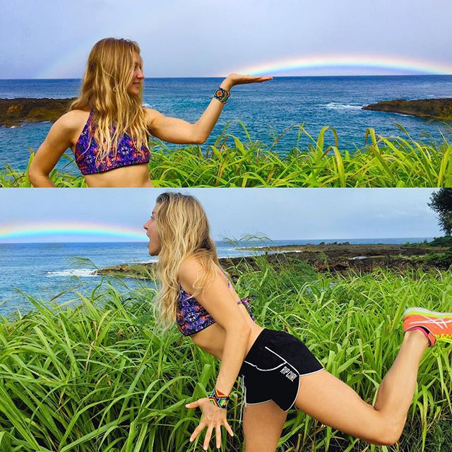 Everyone wants happiness no one wants pain... So play with the rainbows and learn to dance in the rain!  #wordstoliveby #nikkipyoga #rainbows #yogahasnoborders #hawaii #yoga #behappy #inspired #travel #naturelovers