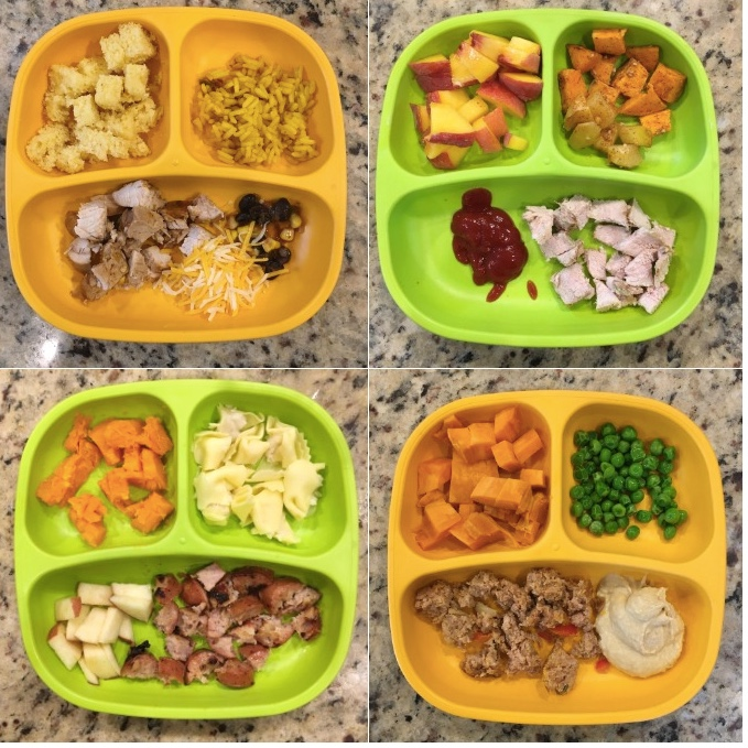 Finger food snacks - for pre-schoolers. Packed in returnable lunchboxes