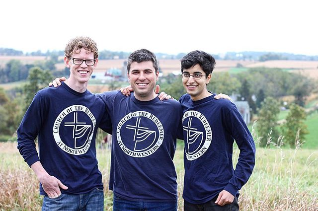 These guys right here doing their best modeling in their #redeemernu tees! Join us this morning at 10am for our Sunday service in Swift Hall 107. . . . . #sundayservice #sundayservices #church #sundaychurchday #churchoncampus #campusministry #collegeministry #acna #anglicanchurch #ministry #anglican #churchfamily #churchfam #fellowship #churchcommunity