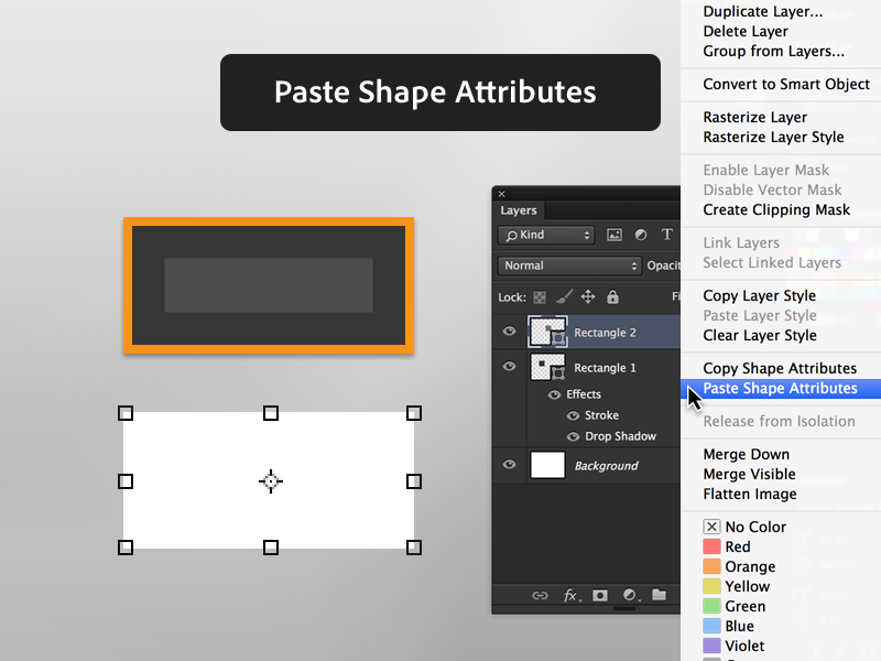 4. Paste Shape Attributes