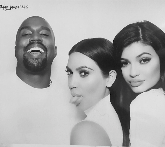 Black And White Photo Booth Kardashian