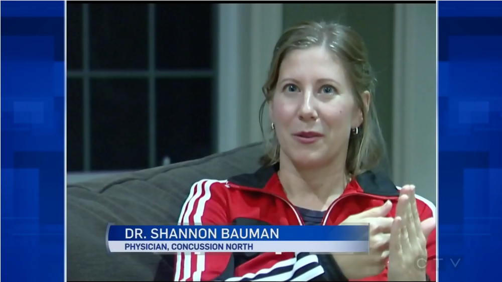 Dr. Bauman speaks to CTV News in Barrie about her own concussion experience and how it led to the founding of Concussion North.  Click on the image to watch Part One.