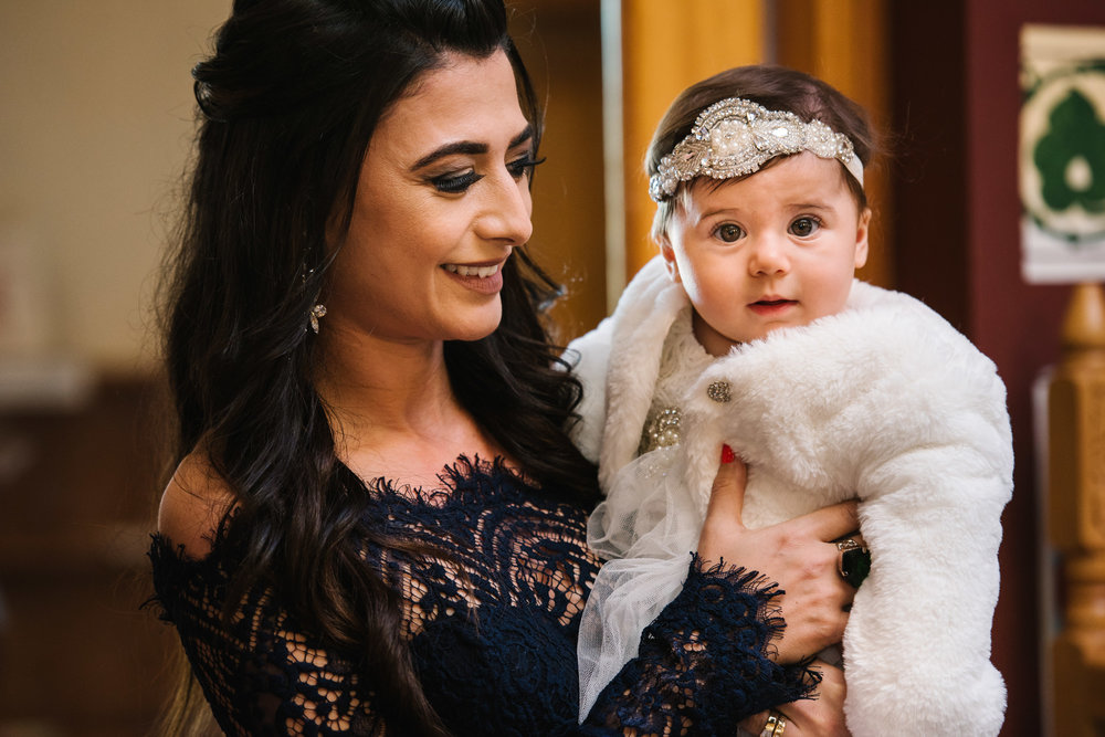 Godmother baby greek orthodox christening