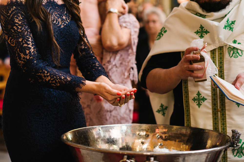 Godmother priest Greek orthodox christening