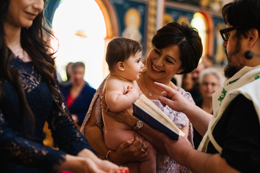 Baby and Grandmother at christening