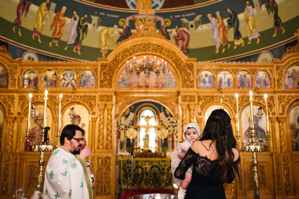 Baby Greek orthodox christening