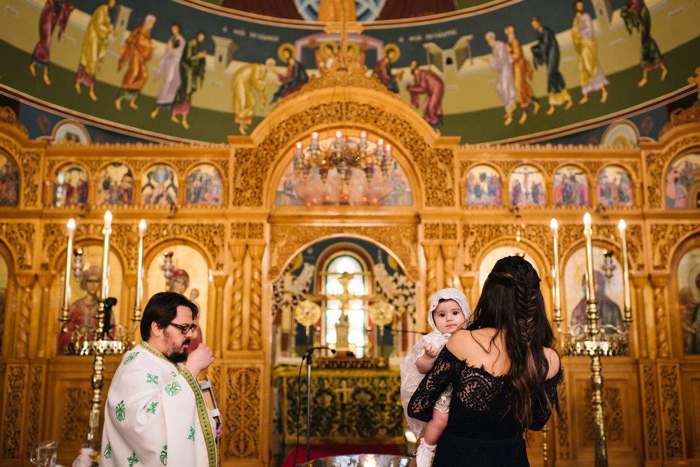 Baby Greek orthodox christening