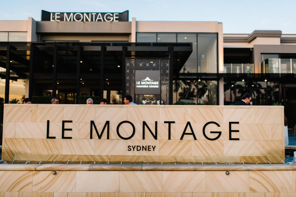 Outside of christening venue Le Montage in Sydney