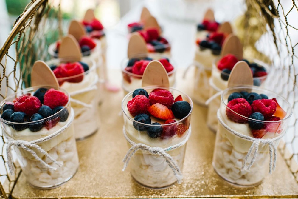 Fruit desserts at Oatlands House christening reception