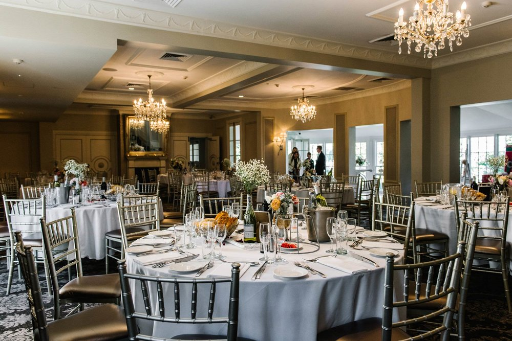 Table settings at Oatlands House christening venue
