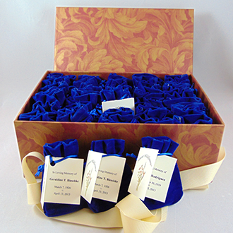 Custom keepsake box with 25 seed pouches