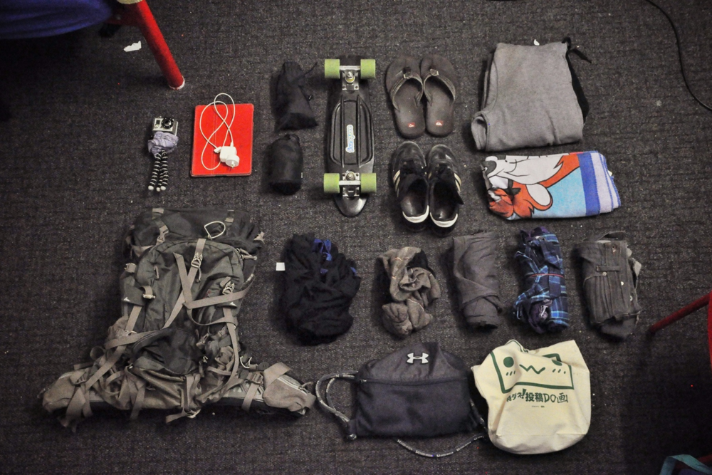 My pack, which I lived out of for 107 days while traveling.