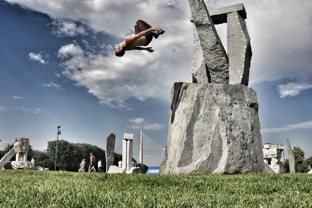 Backflip in Belgrade, Serbia.  More photos and stories from Serbia can be found here.