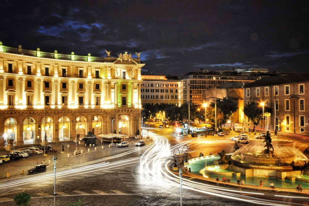 Long exposure in Piazza della Repubblica in Rome, Italy.  More photos and stories from Italy can be found here.