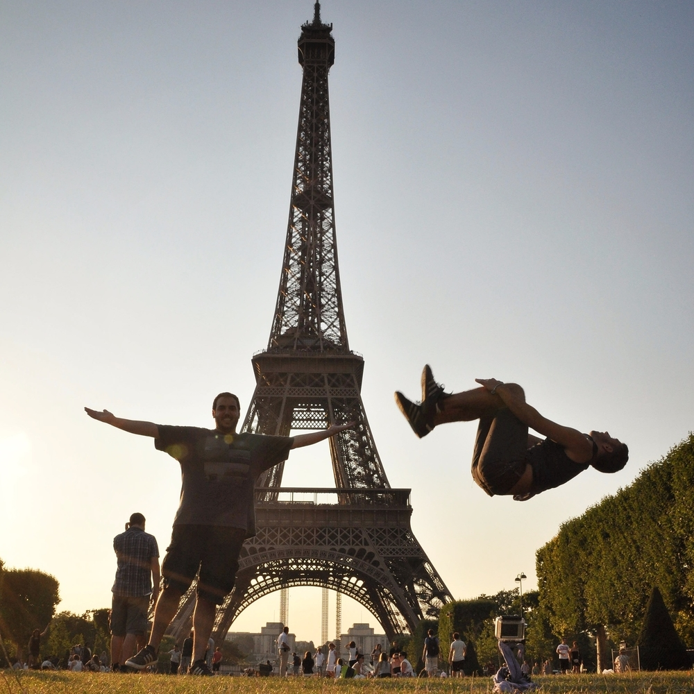 Backflip at the Eiffel Tower in Paris, France.  More photos and stories from France can be found here.
