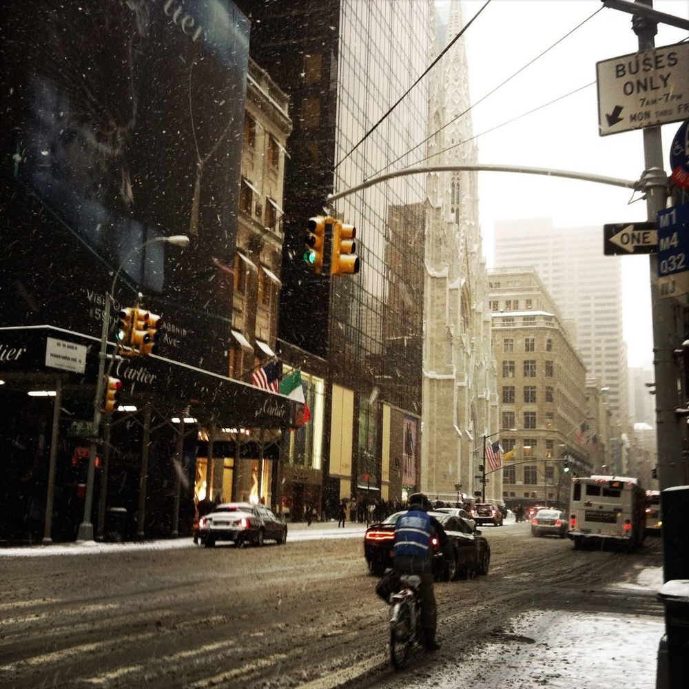 Schnee in New York
