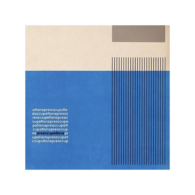 when tuesday's roll into wednesday's and we're still crushing on this album cover from the new @pre_occupations album, one of our lucky 7s this week. #preoccupations #designcrush #designspiration #decentlucky7 #studiosoundtrack