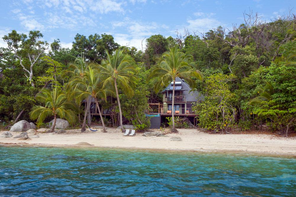 Beach house Villa from sea, Bedarra Island