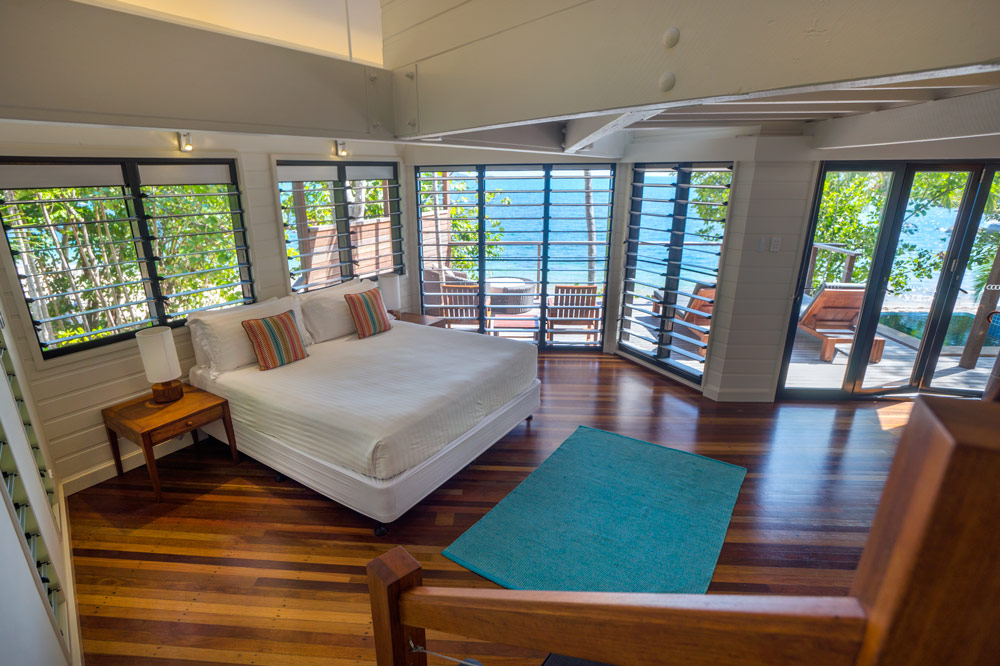Bedroom of beach house villa