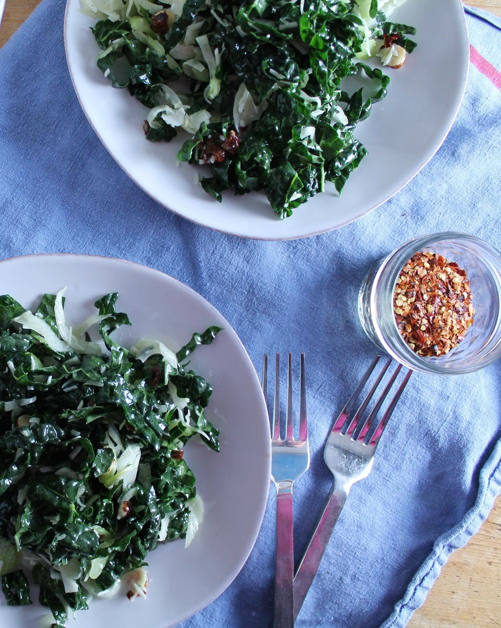 Kale, Fennel, + Celery Salad | www.hungryinlove.com