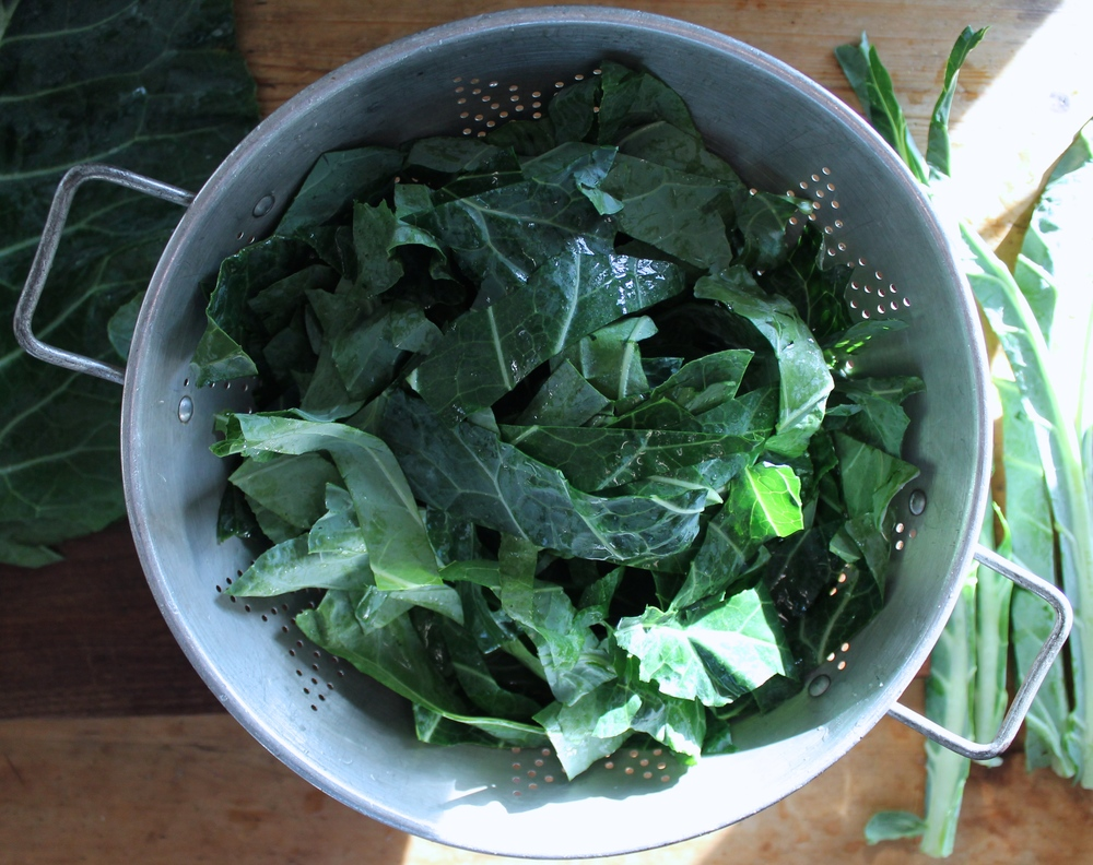 Rinsed Collards | www.hungryinlove.com