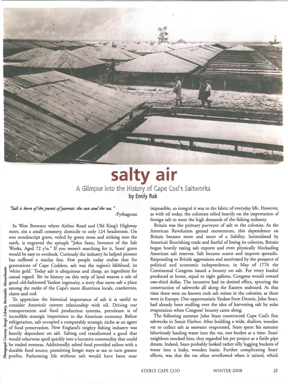 Salty Air Edible Cape Cod | www.hungryinlove.com