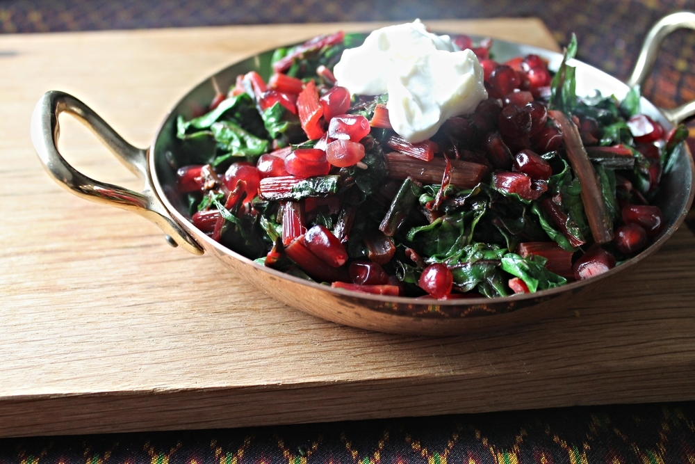 Swiss Chard with Orange Yogurt | www.hungryinlove.com