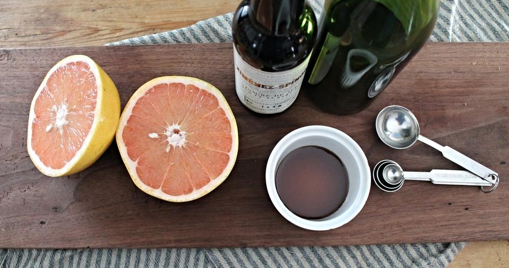 Grapefruit Vinaigrette Mise En Place | www.hungryinlove.com