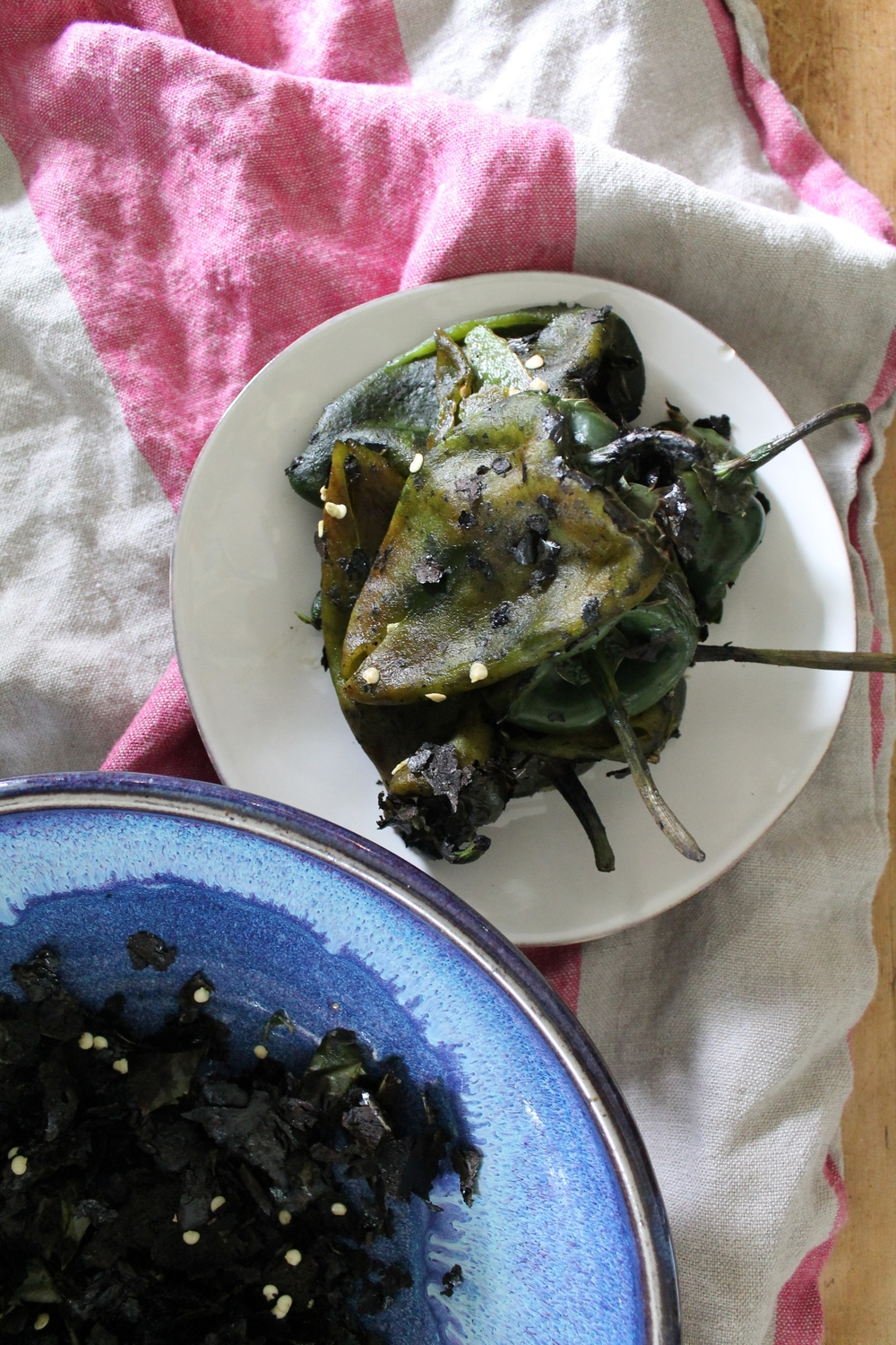 Roasted + Peeled Poblanos | www.hungryinlove.com