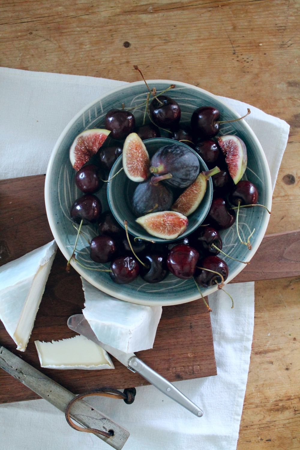 Cheese Plate Cherries + Figs | www.hungryinlove.com