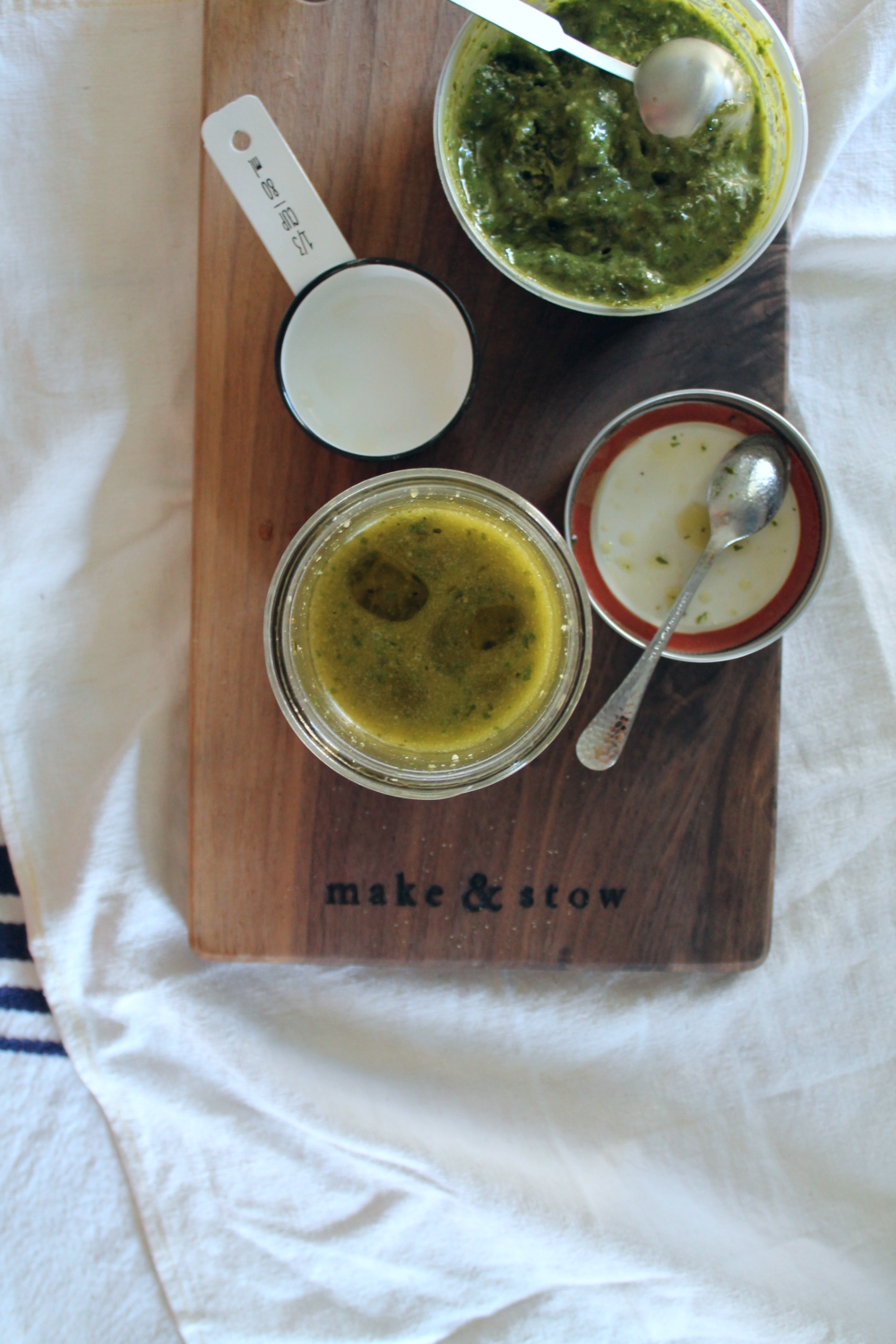 Pesto Maple Vinaigrette | www.hungryinlove.com