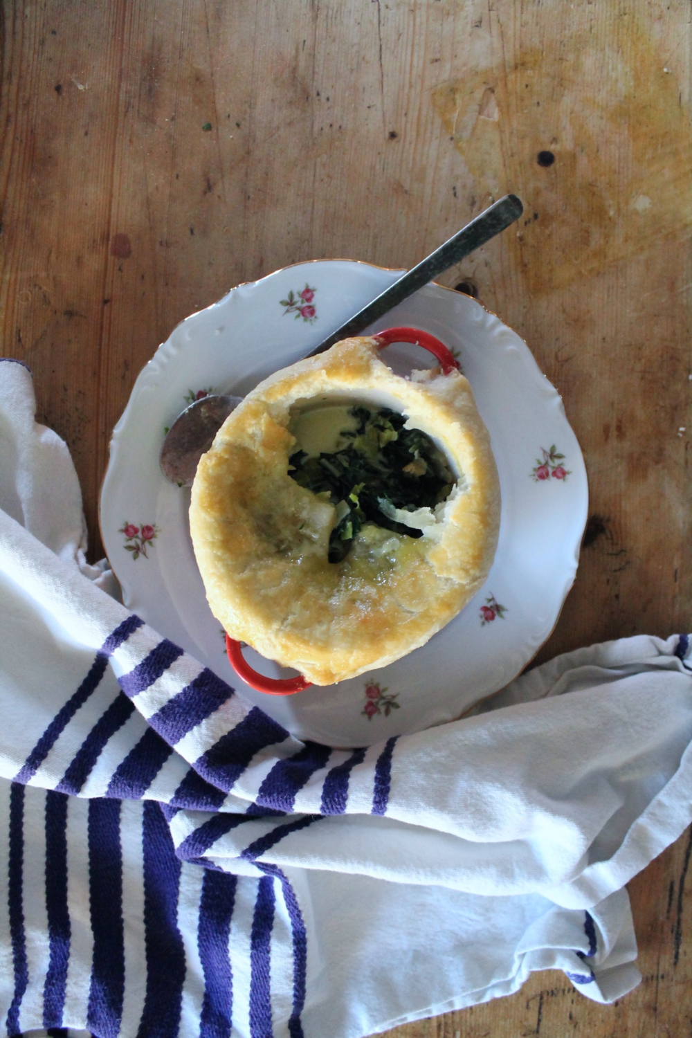 Leek + Swiss Chard Pot Pies | www.hungryinlove.com