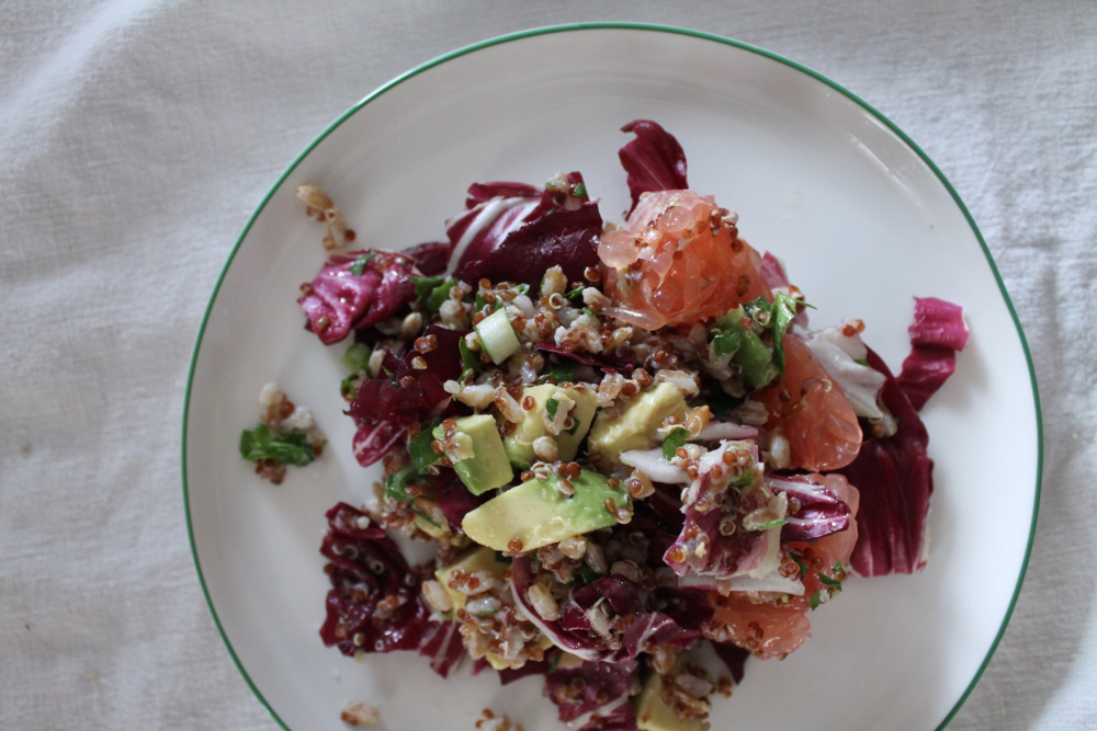 Grain, Grapefruit, + Avocado Salad | www.hungryinlove.com