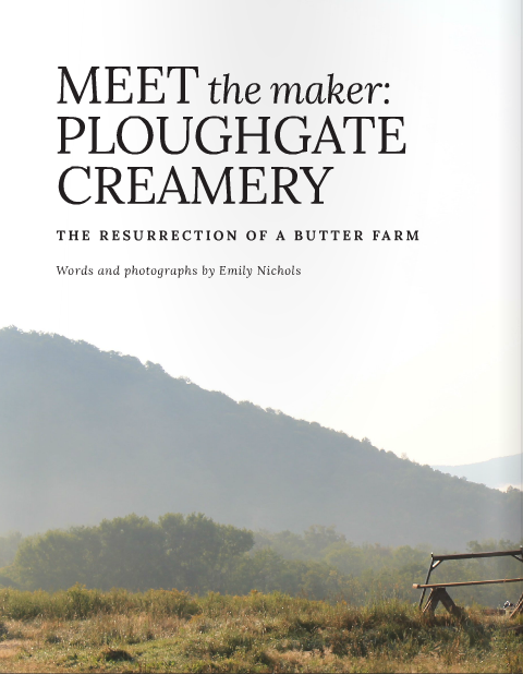 Meet the Maker: Ploughgate Creamery,  t.e.l.l. New England, vol. 10, Fall 2015