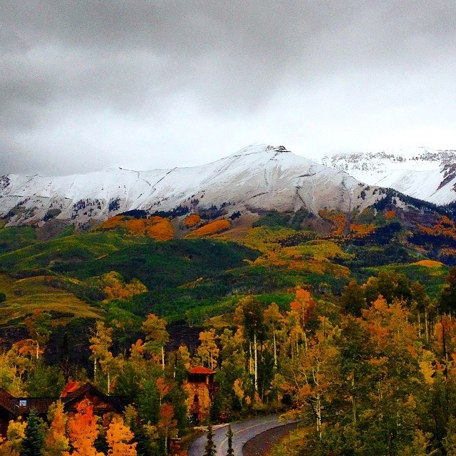 Near Kristie's Home - near Telluride, Colorado -   photo courtesy of Kela Baker