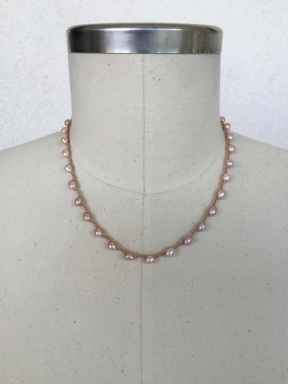 "Mauve Pearl on Mauve - shown here in 21"" length"