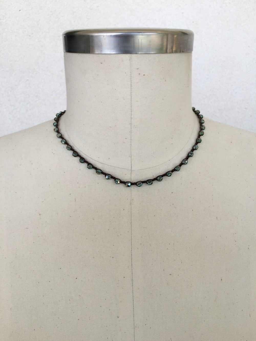 "Blue Czech Crystal Choker  -  shown here in 17"" length"