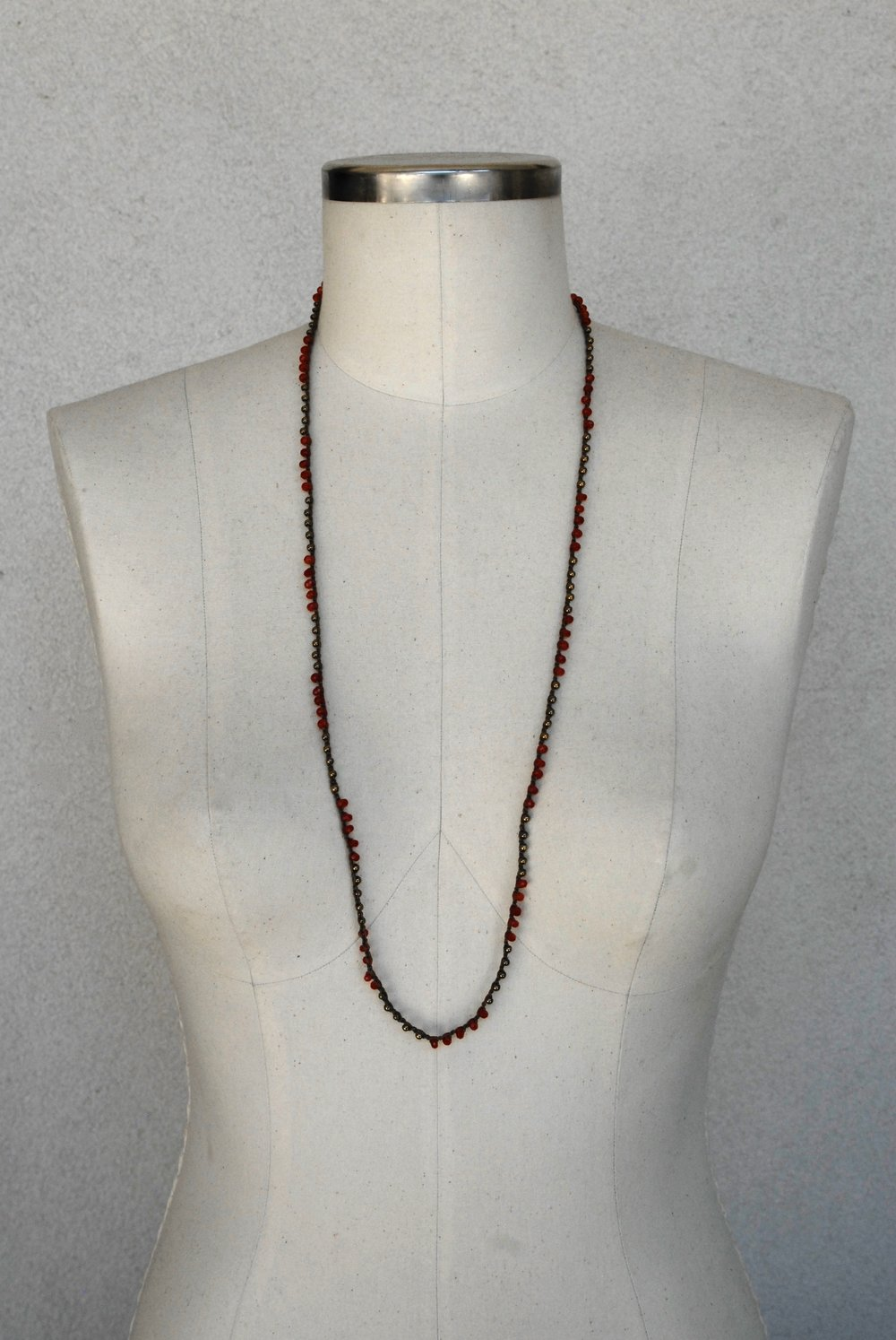 Faceted Carnelian & Pyrite on Chocolate