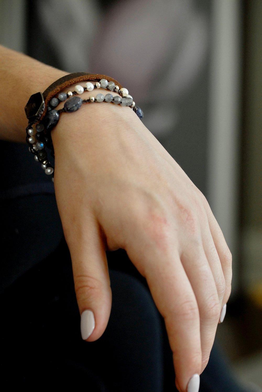 2018 Stone & Leather Bracelets