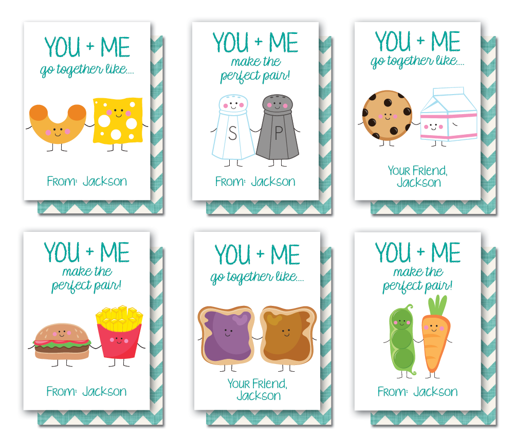 Perfect Pair Kids Valentine Cards InvitationCelebration – Boy Valentine Cards