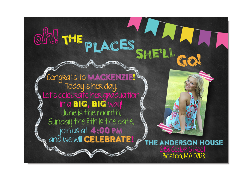 Oh! The Places You'll Go! Graduation Party — InvitationCelebration ...
